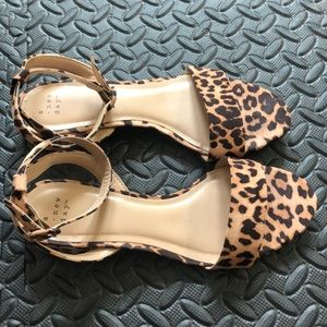 Women's A New Day leopard sandals